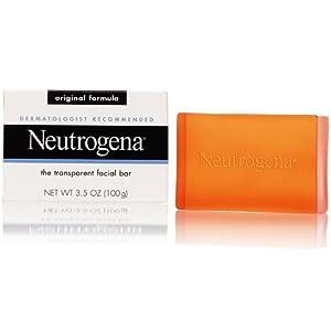 Neutrogena Lot de 8 savons pour le visage Sans parfum Formule originale Transparent 100 g