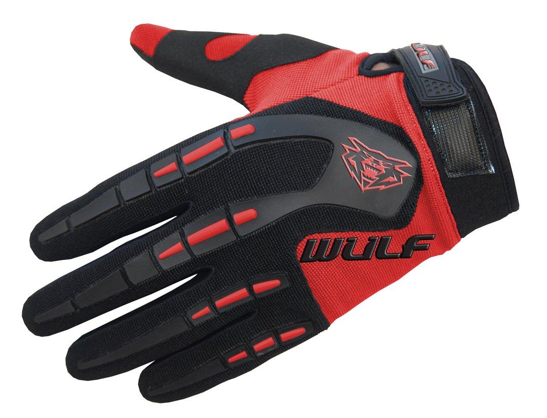 Wulfsport Kids Children Attack Motocross Gloves Junior Offroad Trials Mountain Bike Yellow XXS