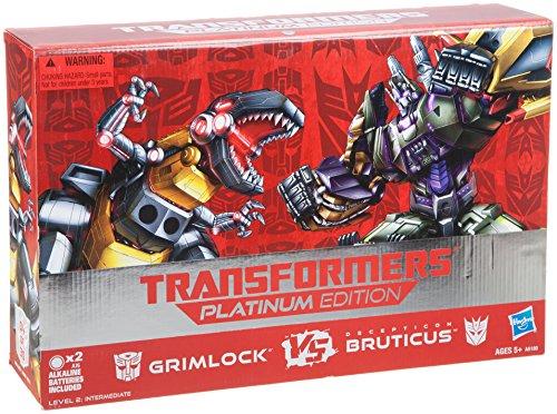 Transformers Platinum Edition Grimlock Vs. Decepticon Bruticus Figure