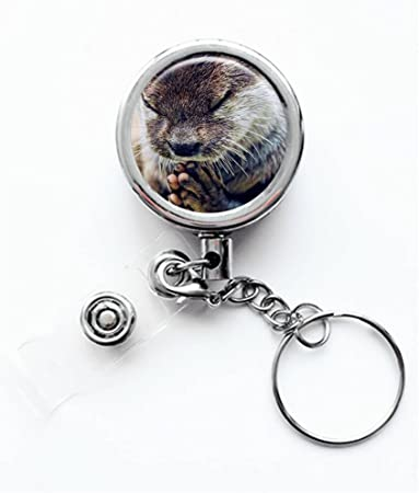 Dandy Otter Bowtie Top Hat Lanyard Belt ID Badge Key Retractable Reel Holder