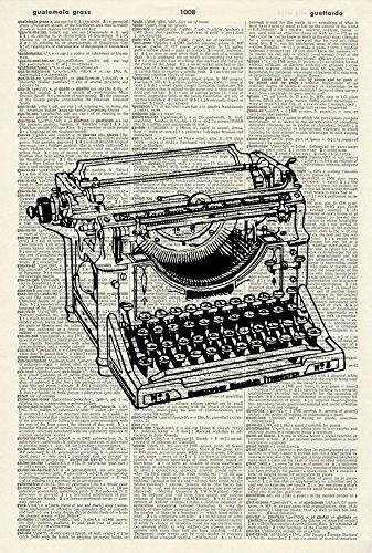 Typewriter Art Print - VINTAGE ART PRINT - Literature ART