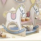 Support chaval à bascule pour gâteau ou cupcakes - Idéal pour une fête prénatale ou premier anniversaire.