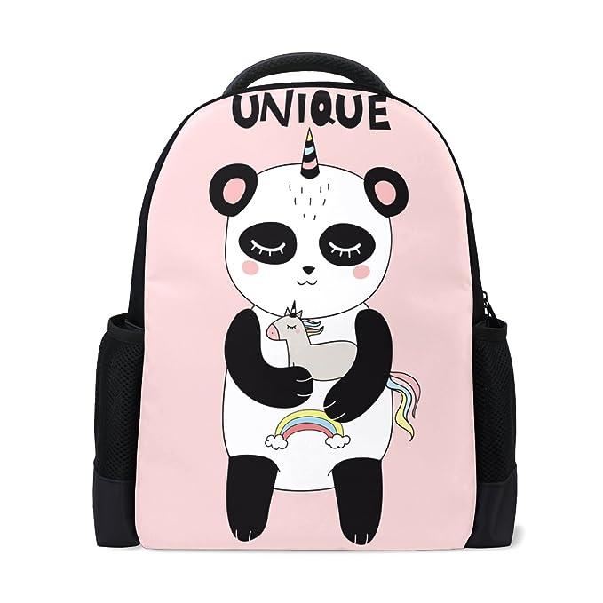 b8e6cc8b05e Book bag Happy Smiling Panda Unicorn Backpack School Bag Casual Travel  Daypack