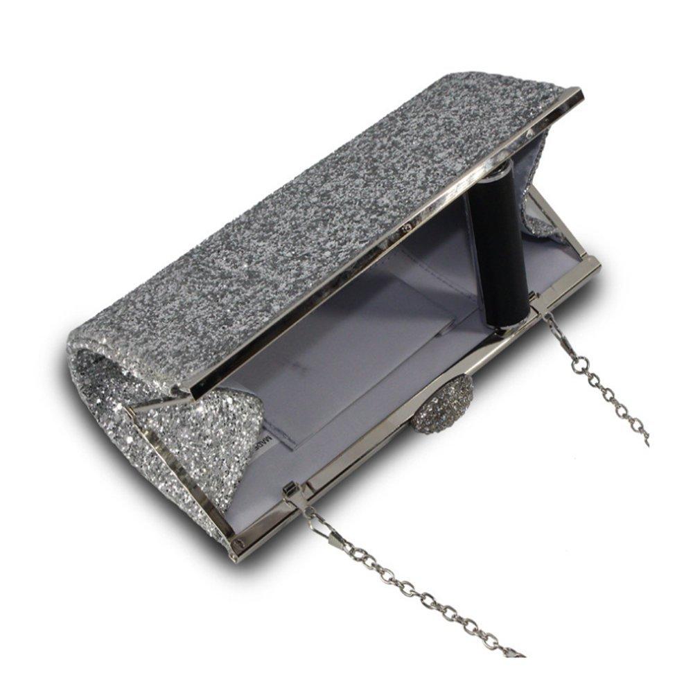 AllRight Women Fashion Gorgeous Glitter Clutch Bag Handbag Purse for Evening Prom Party Assorted Sparkly Handbag Black