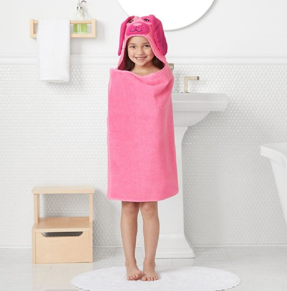 Jumping Beans Animal Hooded Bath Towel Wrap - 25'' x 50'' (DOG)