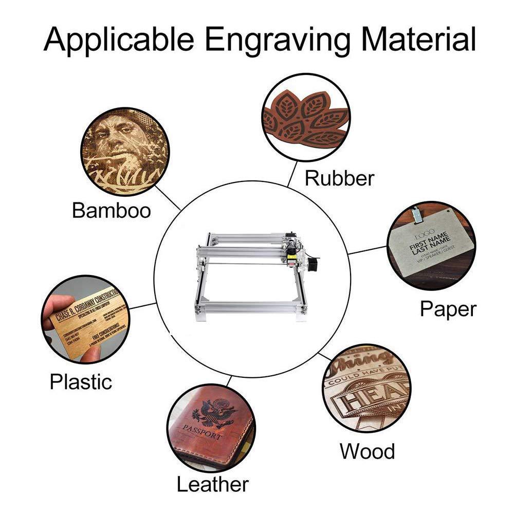 395x285mm 4YANG 5500MW DIY CNC Laser Engraver KitsDesktop USB Laser Carving Engraving Cutting Machine for Leather Wood Plastic 2 Axis