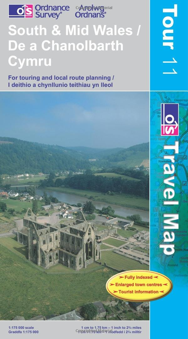 South and Mid Wales (OS Travel Map - Tour Map)
