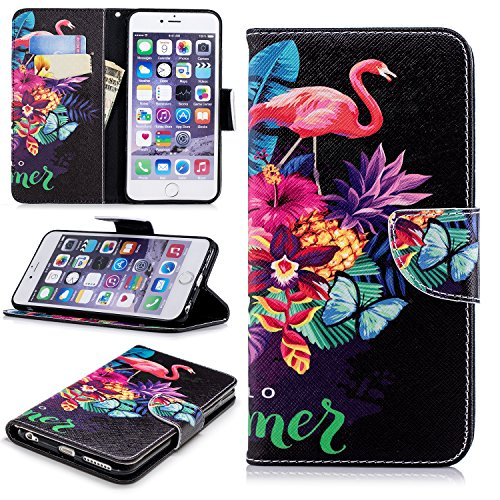 iPhone 6s Plus Case, iPhone 6 Plus Case, Dooge [Kickstand Feature] Premium PU Leather Folio Flip Protective Wallet Case with Cash Card Slots Holder/Magnetic Closure for iPhone 6s Plus/6 Plus