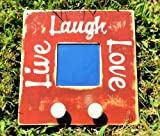 LIVE LAUGH LOVE Primitive Shabby Rustic Chic CUSTOM Wall Mirror Coat Hanger Decor CHOOSE COLOR