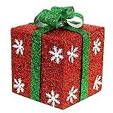 KINDOYO Decorative Christmas Gift Boxes Festive Xmas Decoration - 20 cm