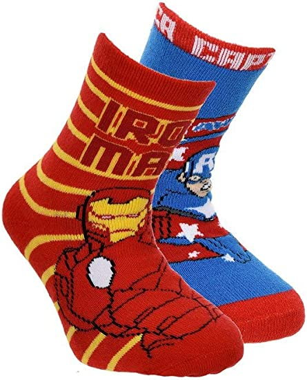 Suncity Pack 2 calcetines Los Vengadores Avengers Ironman y ...
