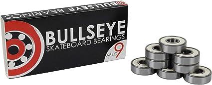8 Bullseye Bearings for Skateboard or Longboard Wheels Precision Abec 5 Rated