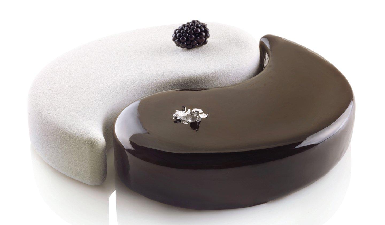 Silikomart Professional ''Yin Yang 2500'' Silicone Mold, Set of 2