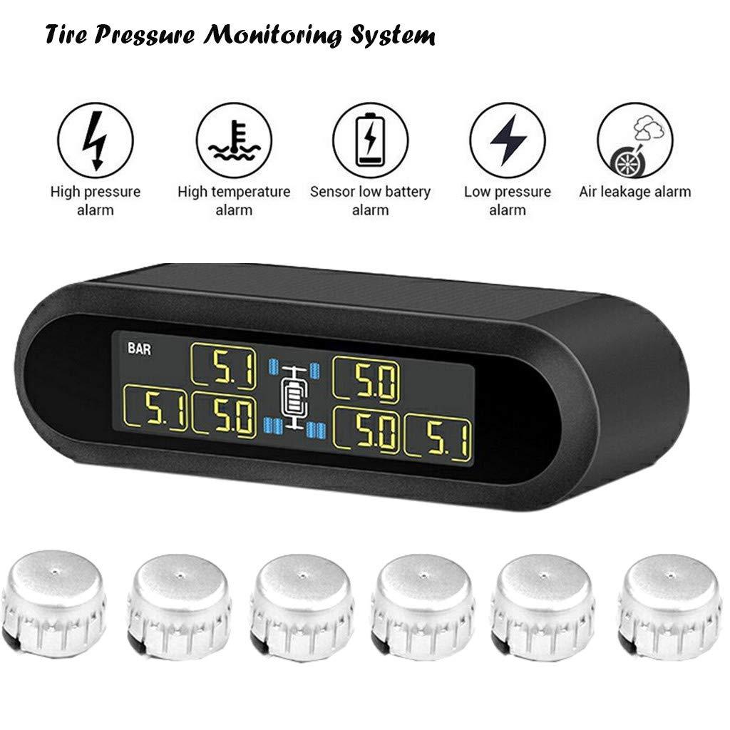 UMFun Solar TPMS LCD Car Tire Pressure Monitoring System +6 External Sensors (silver)