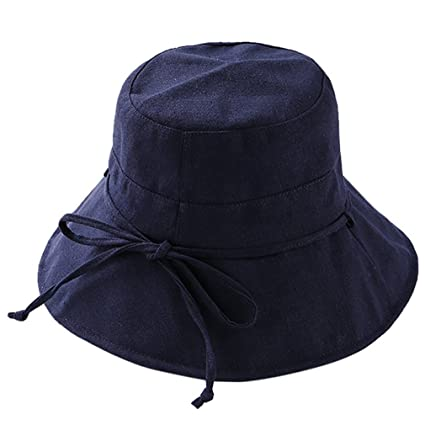 8d69ad2e430 Newsilk Store Womens Floppy Bucket Hat Summer Sun Caps Foldable Wide Brim Cap  Lace Up Bowknot