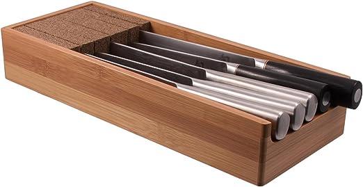 Amazon.com: KNIFEdock: Bloque de bambú para cuchillos de ...