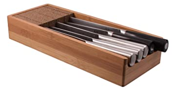 knifedock indrawer knife storage the cork composite material never dulls your blades - Knife Storage