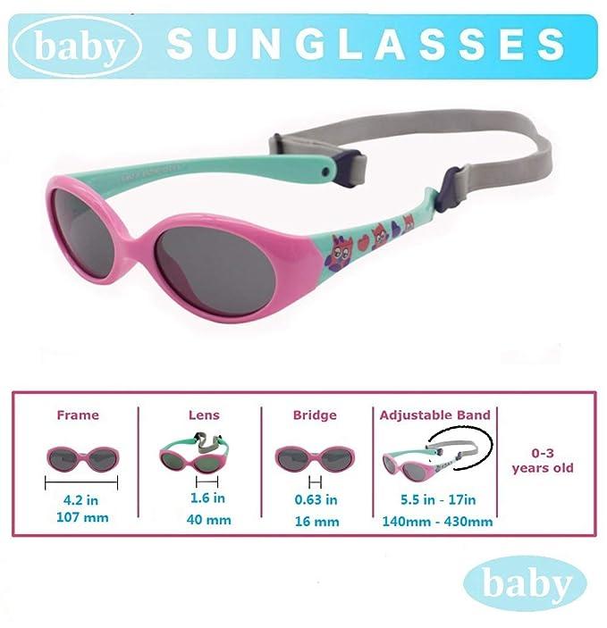 Amazon.com: Gafas de sol para bebé, 6-12 12-24 meses, 0-2 0 ...