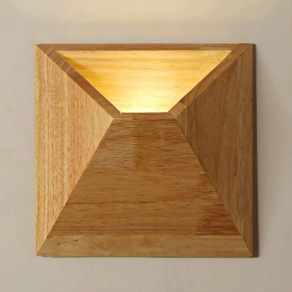 FXING Kreative Kombination aus massiven Holz Wand Led Led Led Persönlichkeit Kunst dekorative Schlafzimmer Nachttischlampe Korridor Gang leuchtet Warm einfach dekoriert, Wandleuchte, Holz Werkstoffe, Auslegu f367a4