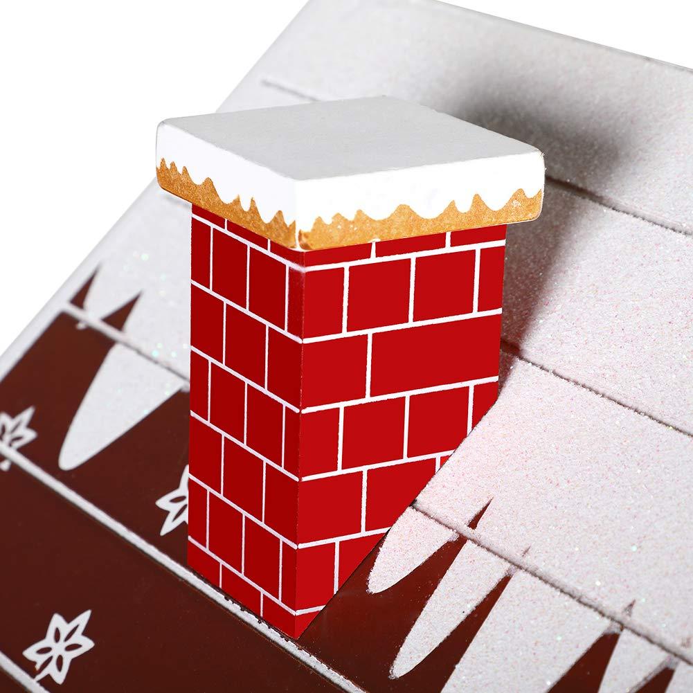 BAKAJI Calendario dell Avvento di Natale in Legno con 24 Cassetti Numerati per Sorpresa Decorazioni Addobbi Natalizi Casa Babbo Natale con Albero