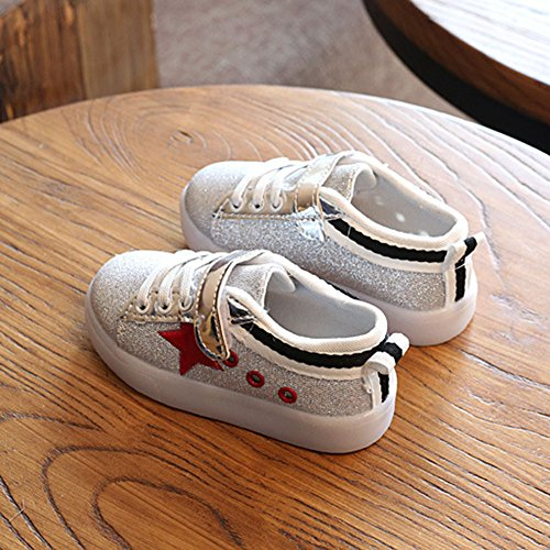 Highdas Jungen Mädchen Prewalker Licht Schuhe Rot