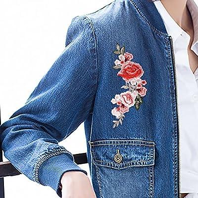 Amazon.com: Coopay parches para coser, flores bordadas, para ...