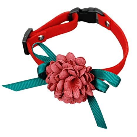 Cupcinu Collares para Mascotas de Tela Collares Ajustables para Gatos Collares de Flores Arco para Mascotas