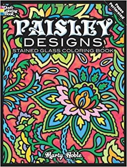 paisley designs stained glass coloring book dover design stained glass coloring book - Paisley Designs Coloring Book