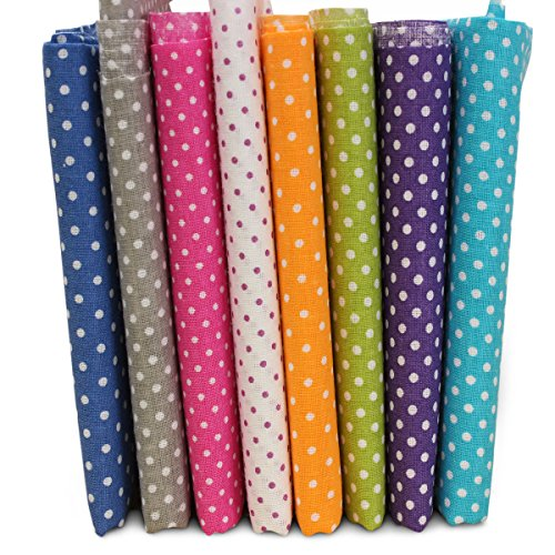 kingso-7pcs-cotton-fabric-bundles-quilting-sewing-diy-craft-197x197inch-polka-dot