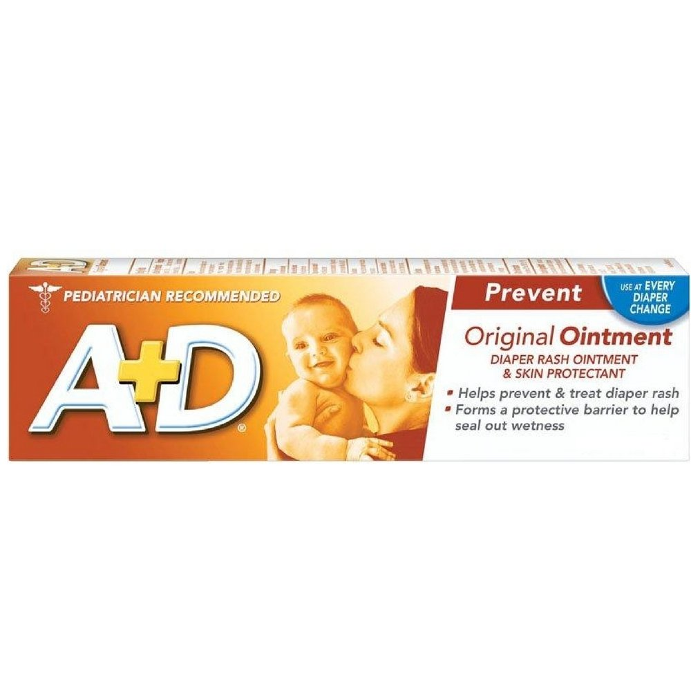 A+D Diaper Rash Ointment & Skin Protectant, Original 4 oz ( Pack of 3) by A & D