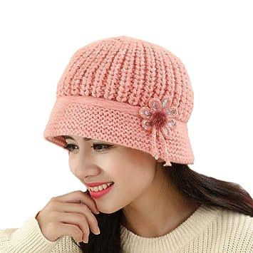 3971f39ac538a Elegant Women Knitted Hats Faux Rabbit Fur Cap Autumn Winter Berets Ladies