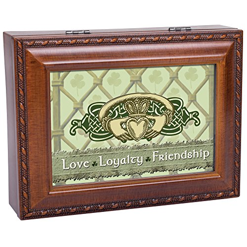 cottage garden love loyalty woodgrain music box jewelry box plays irish lullaby buy online in. Black Bedroom Furniture Sets. Home Design Ideas