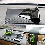"Car Dash Mat Anti Slip Dashboard Mat Non-Slip Pad Car Dashboard Sticky Pad Car Interior Adhesive Car Accessories (Black-Car Square Pattern, 11""X6.7"")"