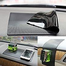 ZhuTook New Anti-slip Pad Magic Non-Slip Mat Car Dashboard Sticky Pad Adhesive Mat black-car Skin pattern (28*17)