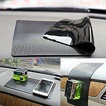 Car Dash Mat Anti Slip Dashboard Mat Non-Slip Pad Car Dashboard Sticky Pad Car Interior Adhesive Car Accessories (Black-car Skin Pattern(16X8))