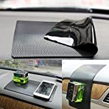 "Car Dash Mat Anti Slip Dashboard Mat Non-Slip Pad Car Dashboard Sticky Pad Car Interior Adhesive Car Accessories (Black-Car Square Pattern, 11""X6.7"")"