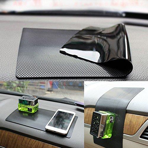 New Magic Anti-Slip Non-Slip MatCar Dashboard Super Sticky PadAnti-Slip Gel Pad, Cell Phone Mount HolderMat by ZhuTookfor GPS,Sunglasses, Keys and more - Black (Size: 11