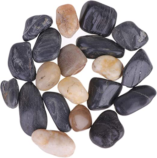 SUPVOX Pequeñas Rocas Decorativas río guijarros Grava Piedra para pecera Accesorios Maceta Ornamento decoración 1 Paquete 1000g: Amazon.es: Jardín