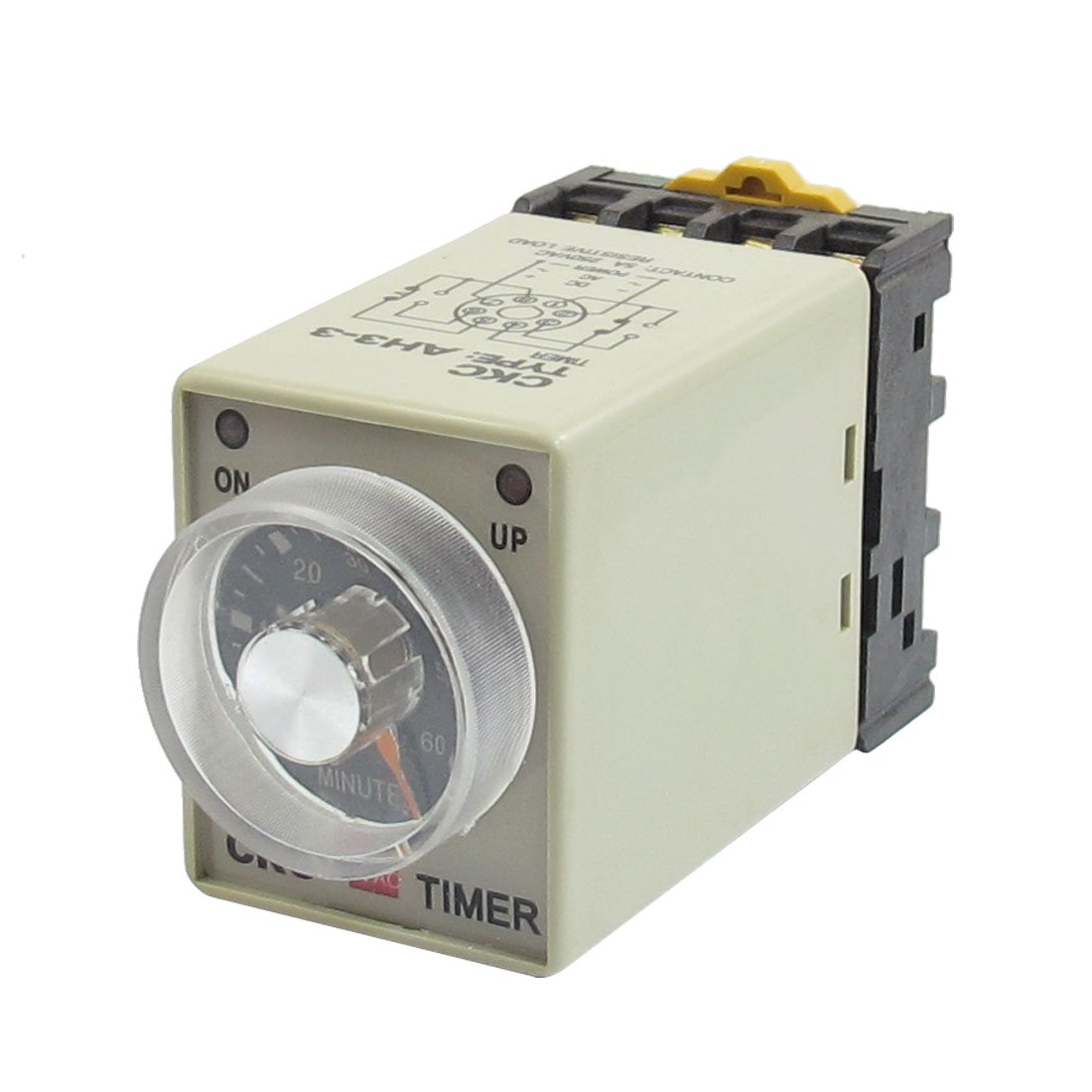 Uxcell AC V P  Minutes Range Adjustable Delay Timer Time - Normally open timed closed relay
