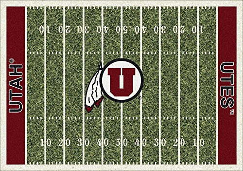 American Floor Mats Utah Utes NCAA College Home Field Team Area Rug 10'9