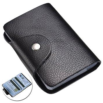 taille 40 96be3 d2d43 Porte Carte de Credit Protège Cartes Fidélité Rigide en Cuir ...