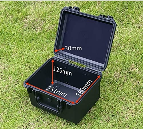 Toolbox 275x235x166mm Instrument Plastic Sealed Waterproof Shockproof Safety Equipment Case Portable Hard Box with Foam (Color : 275x235x166mm) 275x235x166mm