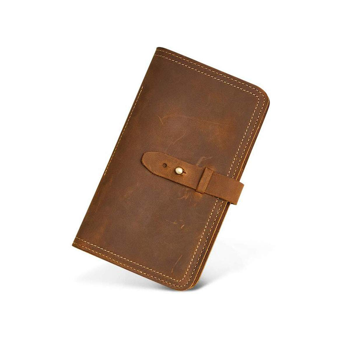, Color : Yellow Brown Color: Dark Blue Length 11cm Width 2cm Height 19 Size: Leather Retro Fashion Multi-Function Passport Bag Aishanghuayi Wallet for Women