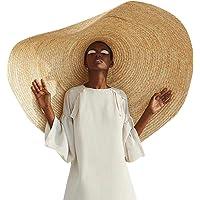 Summer Straw Hat- Straw Cap Women Wide Brim Beach Fashion Large Sun Hat Beach Anti-Uv Sun Protection Foldable Straw Cap