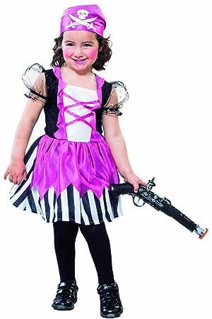 Fyasa 706227-t00 pirata disfraz de niña, pequeñas: Amazon.es ...