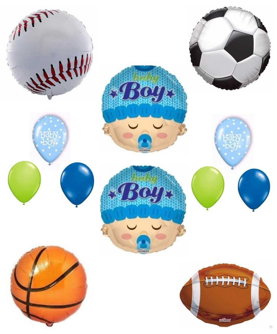 Amazon.com: Its A Boy Baby Shower Sports Theme Balloon Decoration Kit: Toys  U0026 Games