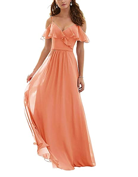 Amazon.com: Blush - Vestidos de dama de honor con cuello en ...