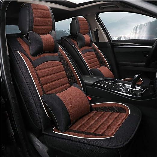 Amazon.com: Cojín para asiento de coche de lino y algodón ...