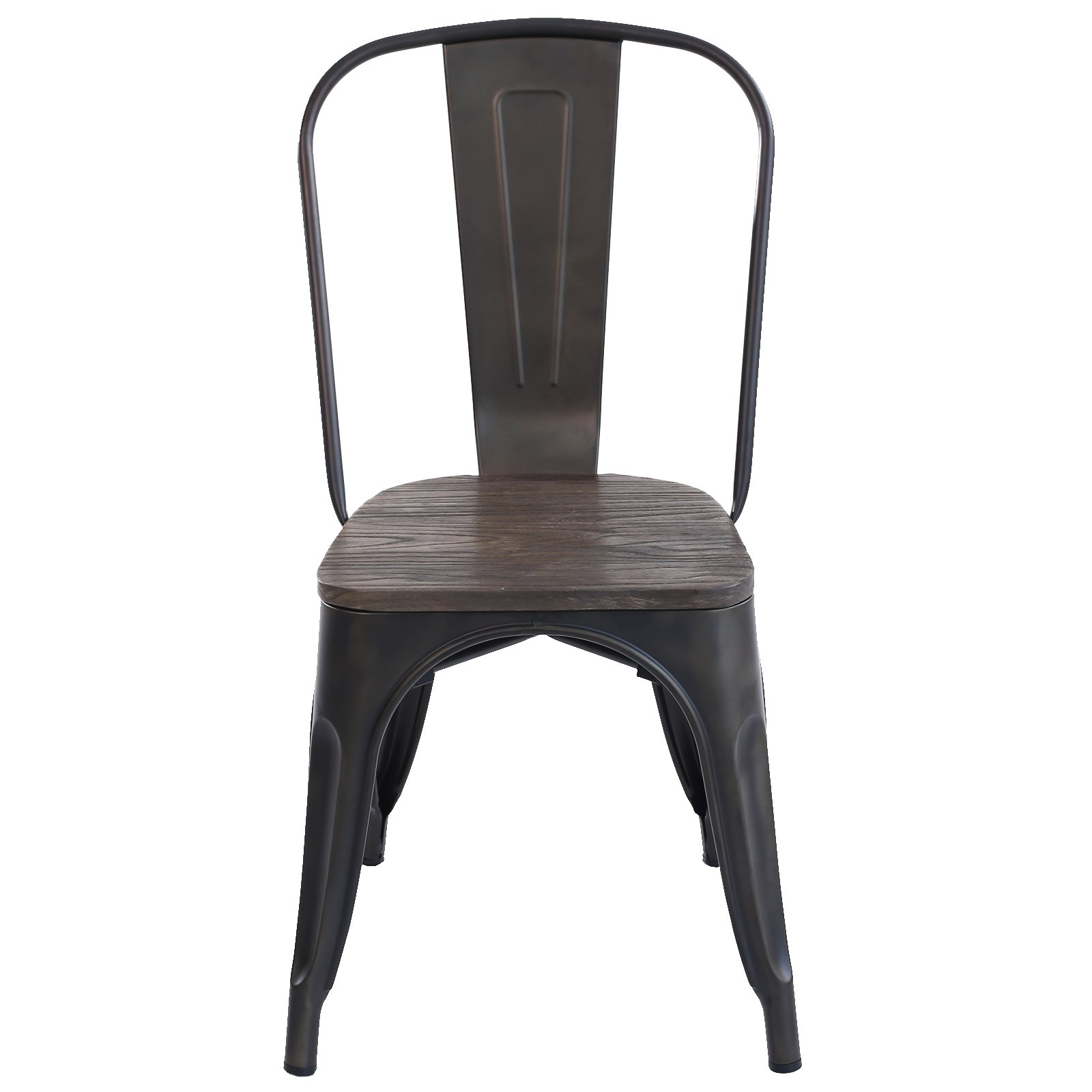 Poly and Bark Trattoria Side Chair with Elm Wood Seat in Bronze (Set of 2) by POLY & BARK (Image #3)