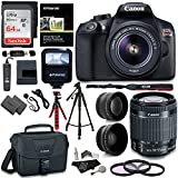 Canon EOS Rebel T6 Digital SLR Camera Kit + EF-S 18-55mm f/3.5-5.6 IS II Lens + Pro .58x & 2.2x Lenses + Lexar 48GB Memory + 57' Tripod + Canon 100ES Case + Polaroid Accessory Bundle